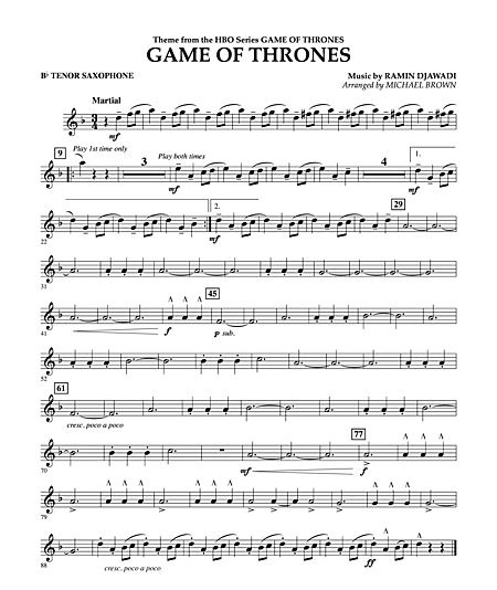 gamethrones tenor
